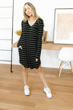 Stripes For Likes Dress in Black-11-19-2020, 11-24-2020, 1XL, 2XL, BFCM2020, Bonus, Dresses, Group A, Group B, Group C, Group V, Large, Made in the USA, Medium, Small, XL-Womens Artisan USA American Made Clothing Accessories