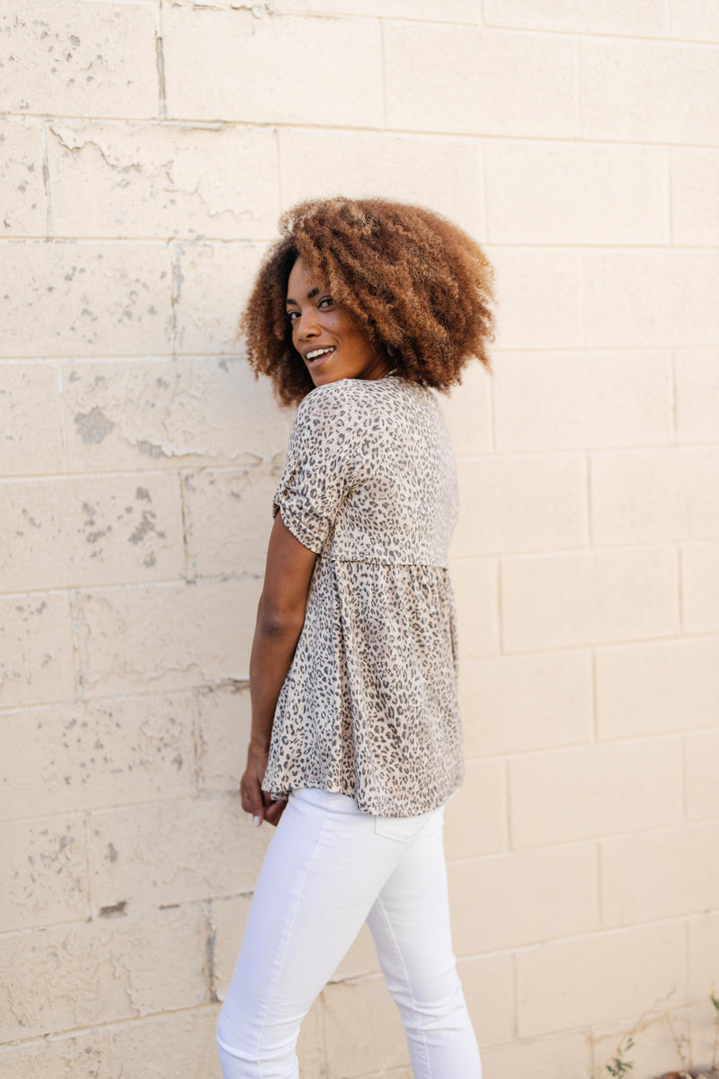 Subtle & Sweet Spotted Babydoll Top- 9/22/2020