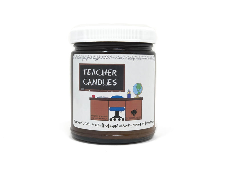 Mini Teacher Candles - 6 oz Soy Wax Candles-Teacher's Pet-Womens Artisan USA American Made Clothing Accessories