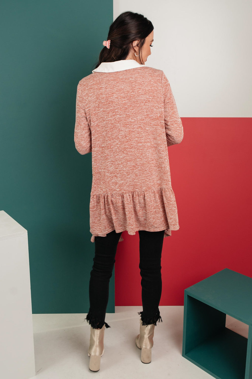 The Avalynn Heathered Cardigan in Crimson-1-5-2021, 1XL, 2XL, 3XL, Group A, Group B, Group C, Group T, Group U, Group X, Group Y, Group Z, Large, Made in the USA, Medium, Small, Tops, XL, XS-Womens Artisan USA American Made Clothing Accessories