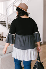 The Fanciful Flowing Top In Black-1XL, 2XL, 3XL, 4-20-2021, 5-5-2021, Bonus, Group A, Group B, Group C, Large, Made in the USA, Medium, Small, Tops, XL, XS-Womens Artisan USA American Made Clothing Accessories