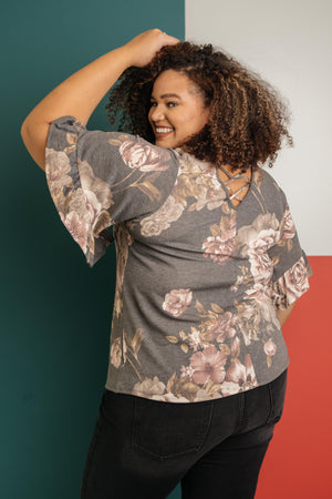The Flirty Sleeve Floral Blouse-1-5-2021, 1XL, 2XL, 3XL, Group A, Group B, Group C, Group U, Group X, Group Y, Group Z, Large, Made in the USA, Medium, Small, Tops, XL, XS-Womens Artisan USA American Made Clothing Accessories