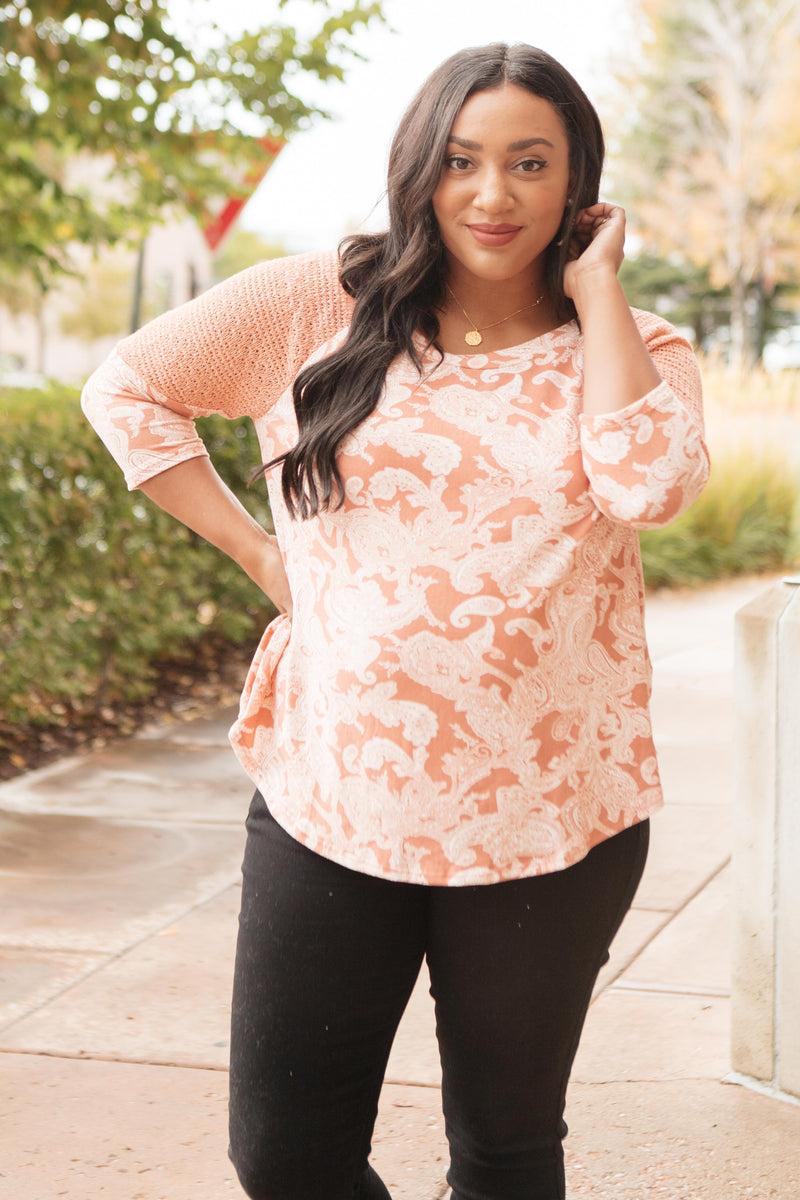 The Paisley Printed Top-10-15-2020, 10-23-2020, 1XL, 2XL, 3XL, Bonus, Group A, Group B, Group C, Large, Medium, Plus, Small, Tops, XL, XS-Womens Artisan USA American Made Clothing Accessories