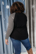 The Striped Sleeves Top-11-30-2020, 1XL, 2XL, 3XL, CMDB2020, Featured, Final Few Friday, Group A, Group B, Group C, Group V, Group X, Large, Made in the USA, Medium, Small, Tops, XL, XS-Womens Artisan USA American Made Clothing Accessories