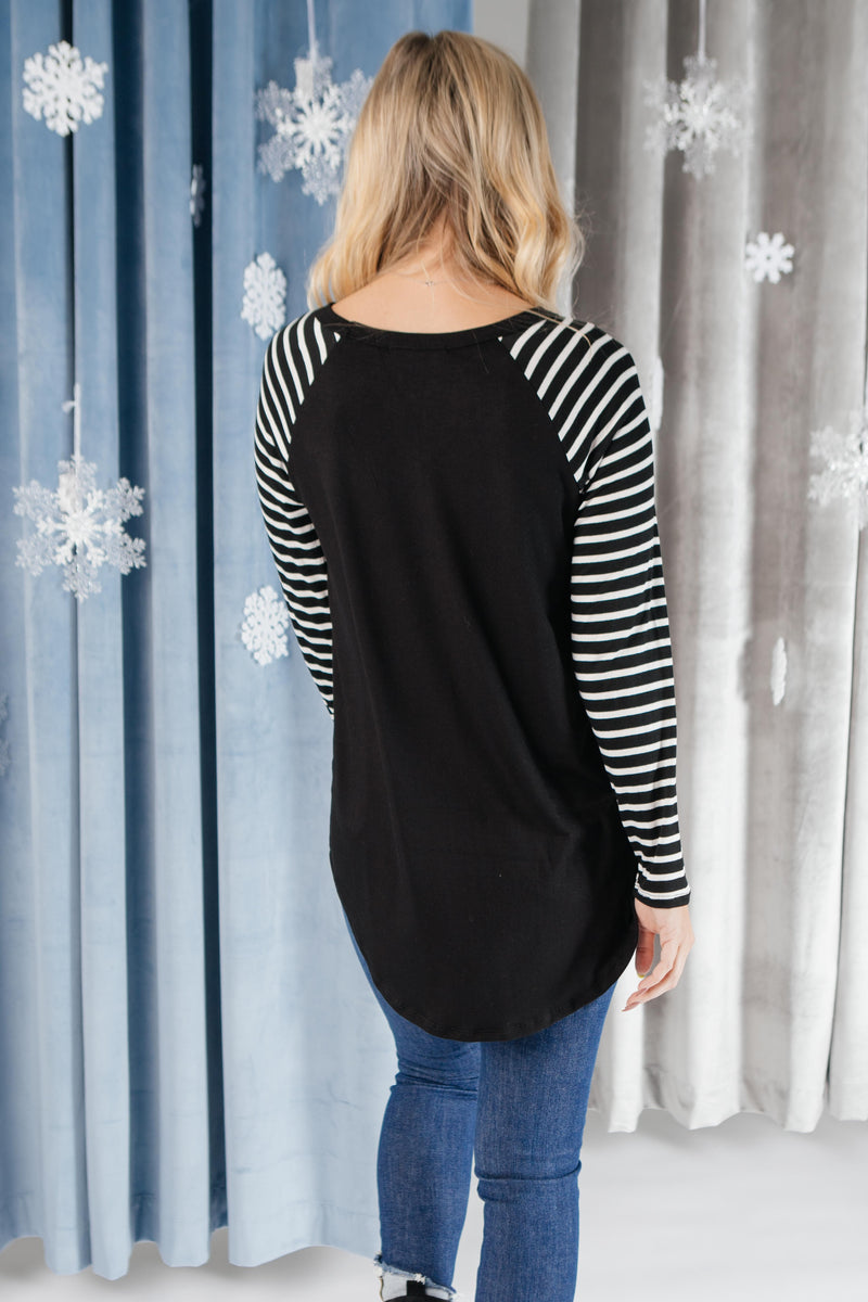 The Striped Sleeves Top-11-30-2020, 1XL, 2XL, 3XL, CMDB2020, Group A, Group B, Group C, Group V, Group X, Large, Medium, Small, Tops, XL, XS-Womens Artisan USA American Made Clothing Accessories