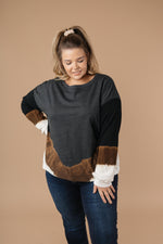 Tie Dye Chevron Pullover In Black-1XL, 2XL, 3XL, 9-15-2020, BFCM2020, Final Few Friday, Group A, Group B, Group C, Group D, Large, Made in the USA, Medium, Plus, Small, Tops, XL, XS-Womens Artisan USA American Made Clothing Accessories