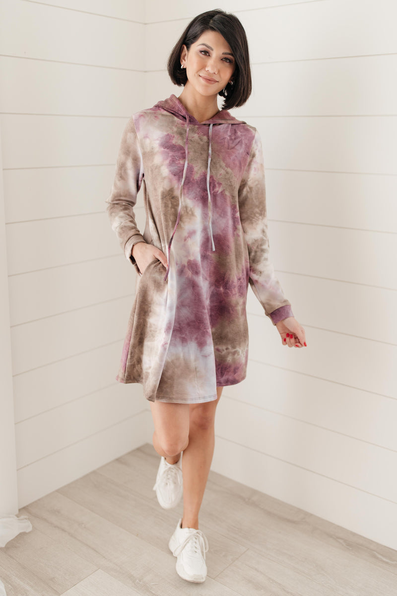 Tie Dye With A Hood Dress-1-28-2021, 1XL, 2XL, 3XL, Dresses, Group A, Group B, Group C, Large, Made in the USA, Medium, Small, XL, XS-Womens Artisan USA American Made Clothing Accessories