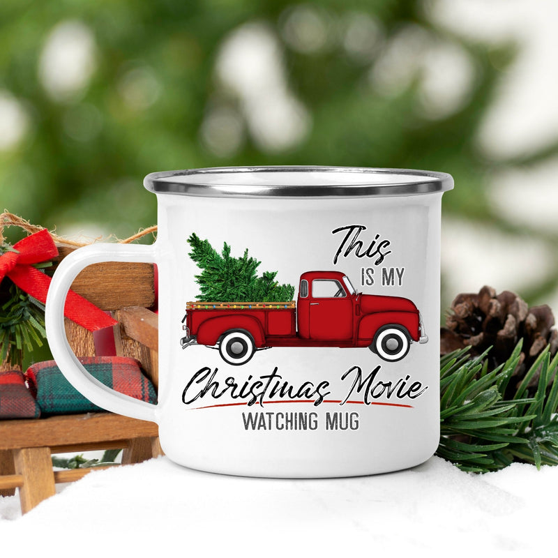 Truck Christmas Movie Watching Campfire Mug - On Hand-Seasonal-Womens Artisan USA American Made Clothing Accessories