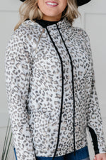 White Leopard Hoodie-1XL, 2XL, 3-2-2021, 3XL, Group A, Group B, Group C, Group D, Large, Made in the USA, Medium, Small, Tops, XL, XS-Womens Artisan USA American Made Clothing Accessories