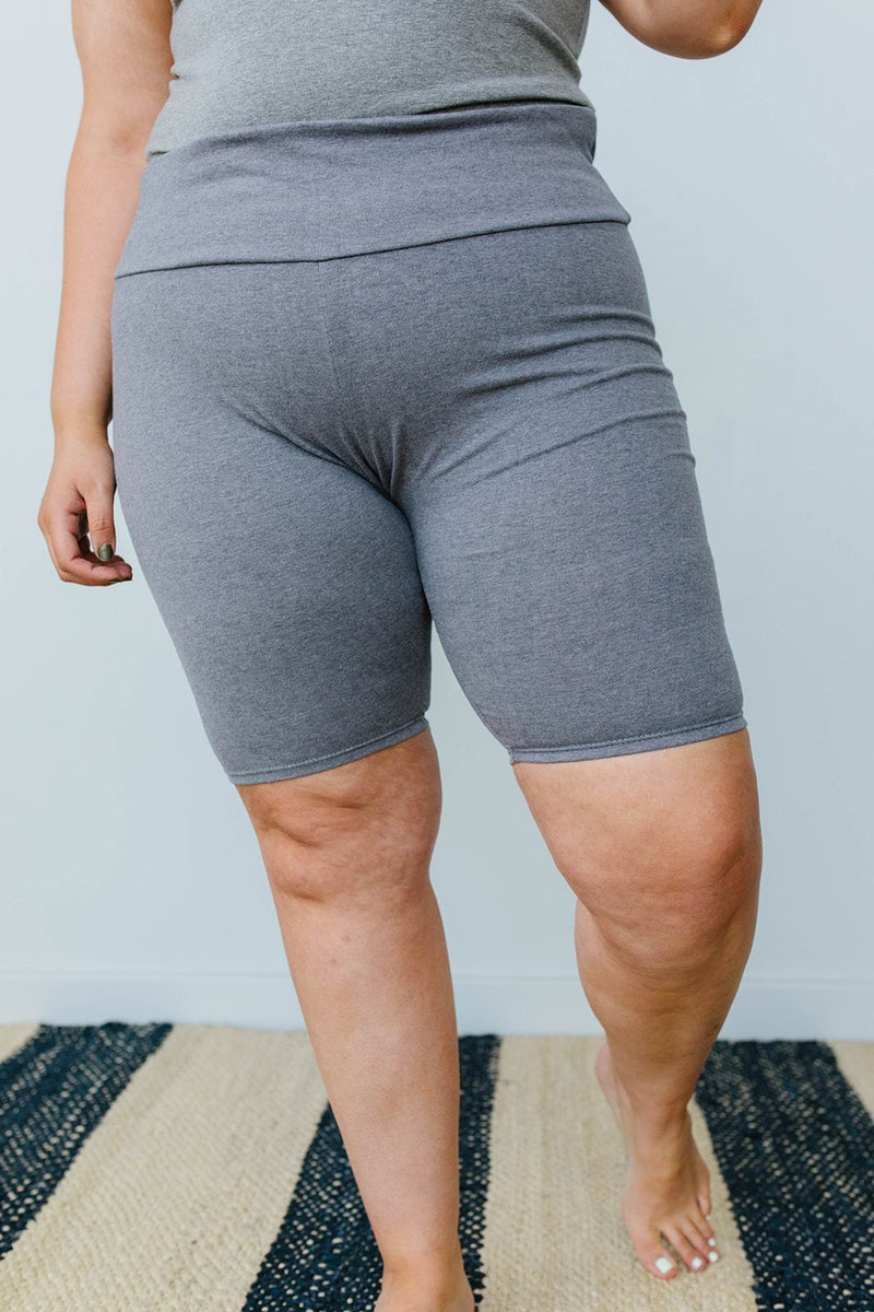 Aero Biker Shorts In Charcoal-1XL, 2XL, 3XL, 8-6-2020, BFCM2020, Bottoms, Group A, Group B, Group C, Group D, Large, Medium, Plus, Small, XL, XS-Womens Artisan USA American Made Clothing Accessories