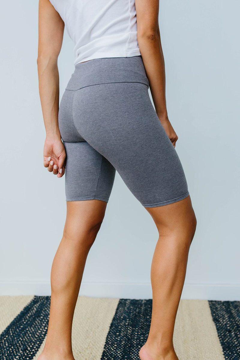 Aero Biker Shorts In Charcoal-1XL, 2XL, 3XL, 8-6-2020, Bottoms, Group A, Group B, Group C, Large, Medium, Plus, Small, XL, XS-Womens Artisan USA American Made Clothing Accessories