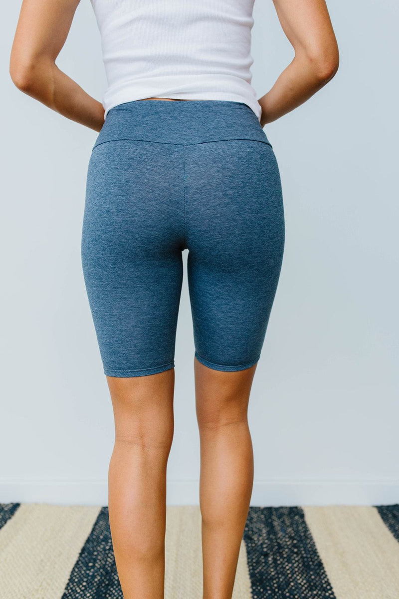 Aero Biker Shorts In Denim-1XL, 2XL, 3XL, 8-6-2020, Bottoms, Group A, Group B, Group C, Group D, Large, Medium, Plus, Small, XL, XS-Womens Artisan USA American Made Clothing Accessories