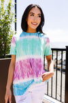 Blurred Lines Top With A Twist-1XL, 2XL, 3-19-2021, 3XL, 6-25-2020, 7-3-2020, Bonus, FeaturedMay2021w1, Group A, Group B, Group C, Group D, Large, Made in the USA, Medium, Plus, Re-Release, Small, Tops, XL, XS-Womens Artisan USA American Made Clothing Accessories