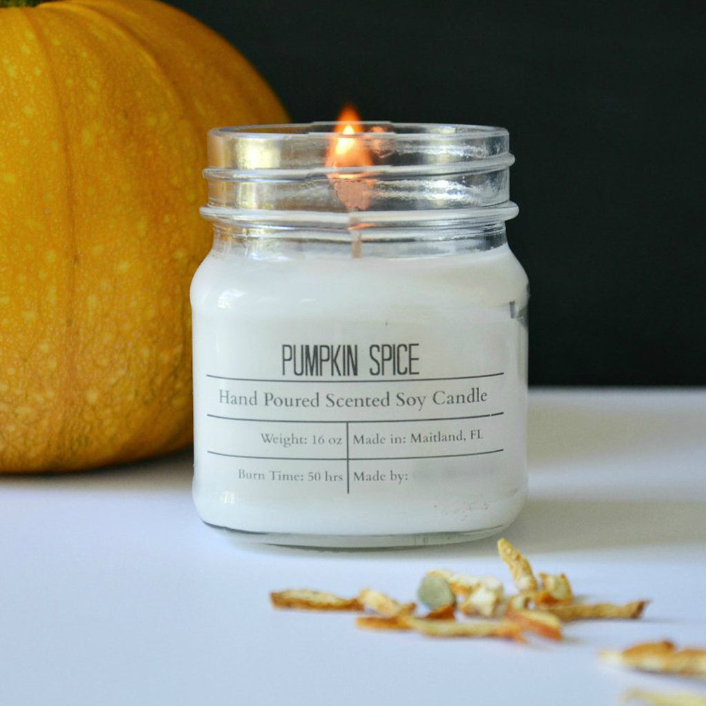 Fall Scented Cotton Wick Soy Wax Candles--Womens Artisan USA American Made Clothing Accessories