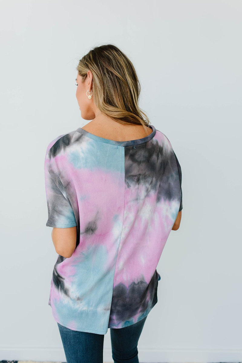 Breakthrough Tie Dye Top-1XL, 2XL, 3XL, 8-12-2020, 8-4-2020, BFCM2020, Bonus, Group A, Group B, Group C, Group D, Large, Medium, Plus, Small, Tops, XL, XS-Womens Artisan USA American Made Clothing Accessories
