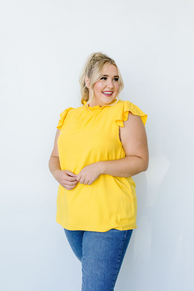 Build Me Up Buttercup Top In Yellow-1XL, 2XL, 8-11-2020, BFCM2020, Group A, Group B, Group C, Group D, Large, Medium, Plus, Small, Tops, XL-Womens Artisan USA American Made Clothing Accessories