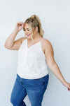 Charlize Surplice Tank In Ivory-1XL, 2XL, 3XL, 4-9-2021, 8-13-2020, BFCM2020, Group A, Group B, Group C, Group D, Group T, Large, Made in the USA, Medium, Plus, Re-Release, Small, Tops-Womens Artisan USA American Made Clothing Accessories