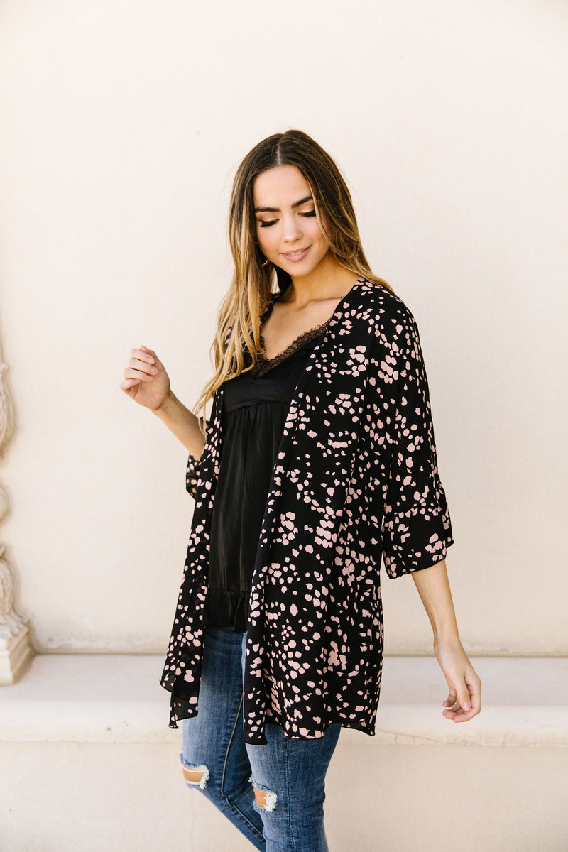 Clusters Cardigan In Black-1XL, 2XL, 3XL, 4-23-2020, BFCM2020, Final Few Friday, Group A, Group B, Group C, Group D, Large, Made in the USA, Medium, Plus, Small, Tops, XL, XS-Womens Artisan USA American Made Clothing Accessories