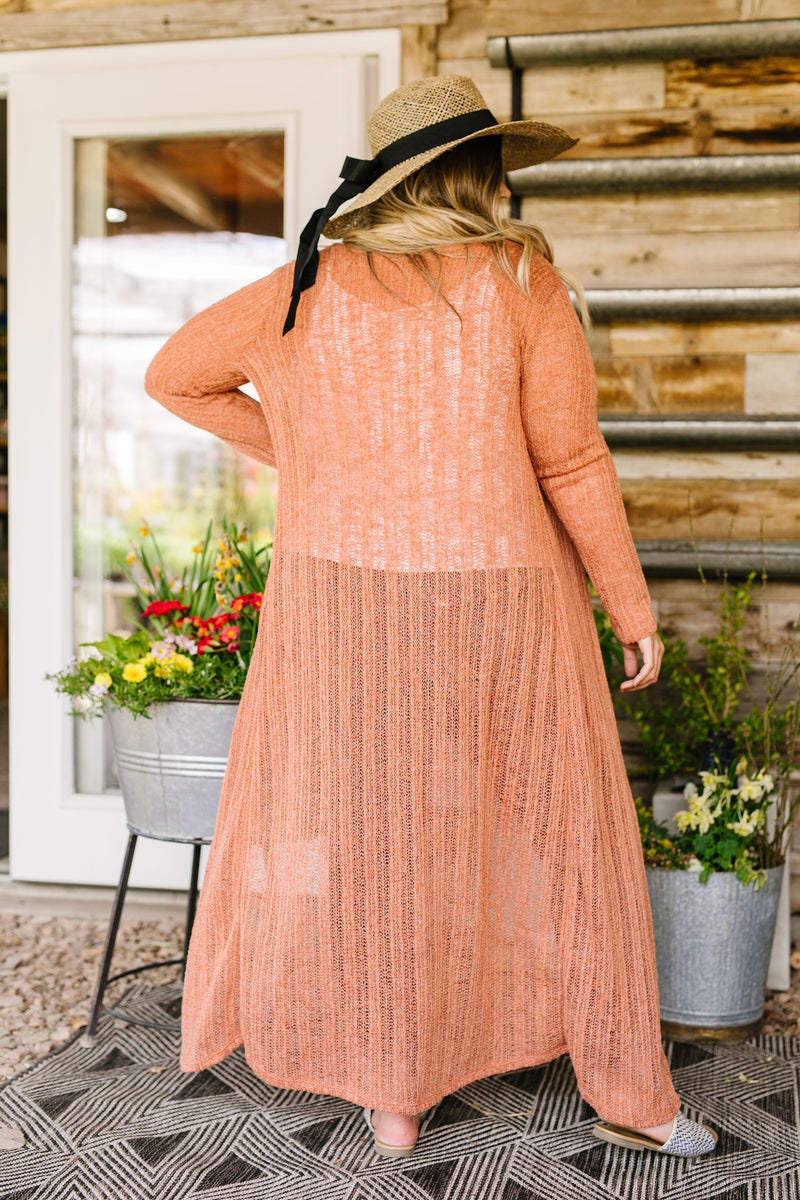Copper Sweater Maxi Cardi-1XL, 2XL, 3XL, 4TH2020, 5-12-2020, 5-22-2020, BFCM2020, Bonus, Final Few Friday, Group A, Group B, Group C, Group D, Group T, Large, Medium, Plus, Small, Tops, XL, XS-Womens Artisan USA American Made Clothing Accessories