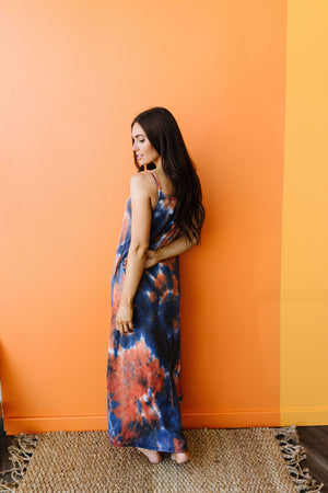Coral Reef Tie Dye Maxi-1XL, 2XL, 3XL, 7-30-2020, 8-7-2020, Bonus, Dresses, Group A, Group B, Group C, Large, Medium, Plus, Small, XL, XS-Womens Artisan USA American Made Clothing Accessories