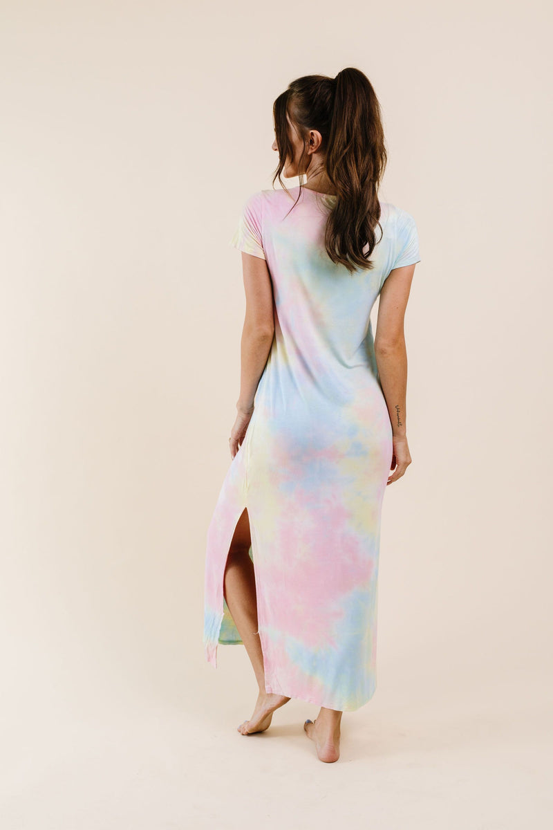 Crossing Over Tie Dye Maxi-1XL, 2XL, 3XL, 8-27-2020, BFCM2020, Dresses, Group A, Group B, Group C, Group D, Group T, Large, Made in the USA, Medium, Plus, Small, XL, XS-Womens Artisan USA American Made Clothing Accessories