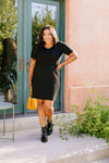 Cute Comfort Dress In Black - On Hand-1XL, 2XL, 3XL, 8-13-2020, BFCM2020, Dresses, Group A, Group B, Group C, Group D, Group T, Group V, Large, Made in the USA, Medium, Plus, Small, XL, XS-Medium-Womens Artisan USA American Made Clothing Accessories