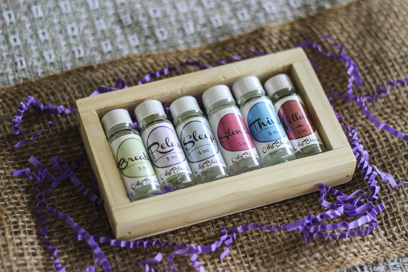 Essential Oil Set + Wood Box--Womens Artisan USA American Made Clothing Accessories