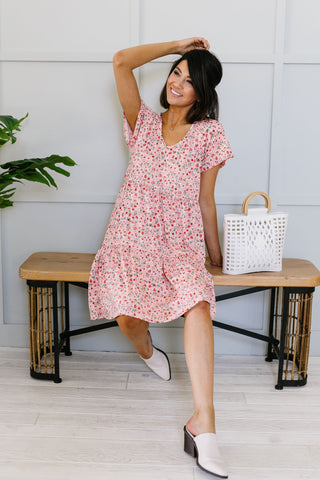 Later Skater T-shirt Dress With Gray Trim