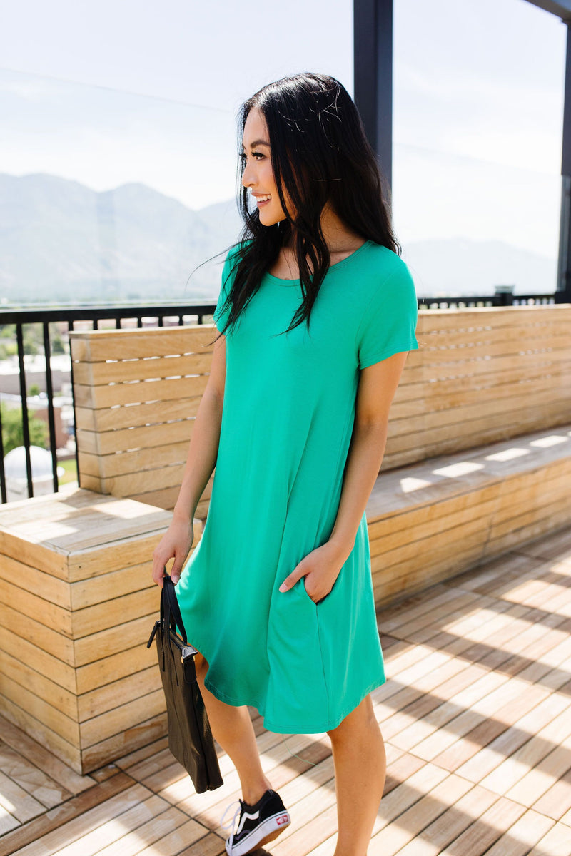 Don't Blink Kelly Green Dress-1XL, 2XL, 3XL, 6-25-2020, 7-3-2020, BFCM2020, Bonus, Dresses, FeaturedJan21, Final Few Friday, Group A, Group B, Group C, Group D, Large, Medium, Plus, Small, XL, XS-Womens Artisan USA American Made Clothing Accessories