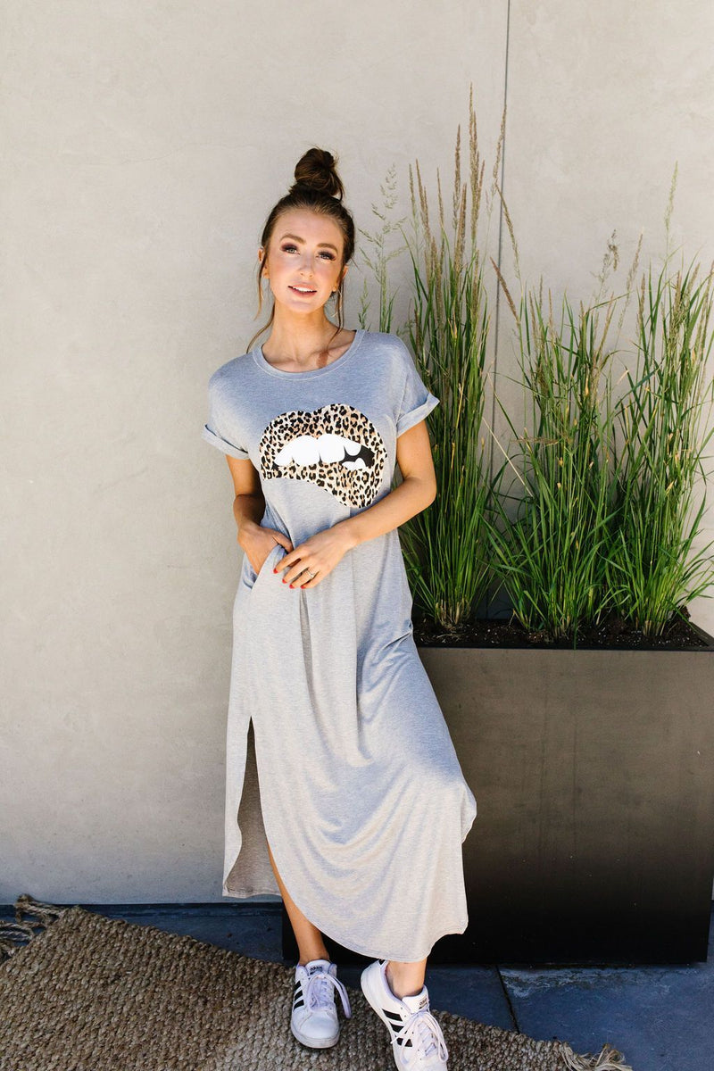 Don't Give Me Any Lip Maxi In Heather Gray-1XL, 2XL, 3XL, 7-16-2020, 7-24-2020, Bonus, Dresses, Final Few Friday, Group A, Group B, Group C, Large, Medium, Plus, Small, XL, XS-Womens Artisan USA American Made Clothing Accessories