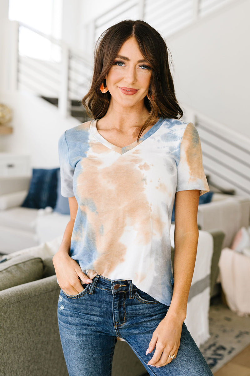 Earth Wind & Tie Dye Top-1XL, 2XL, 3XL, 6-19-2020, 6-9-2020, Bonus, Group A, Group B, Group C, Large, Medium, Plus, Small, Tops, XL, XS-Womens Artisan USA American Made Clothing Accessories