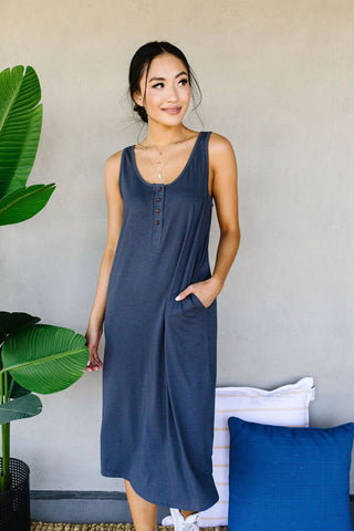 Don't Give Me Any Lip Maxi In Heather Gray
