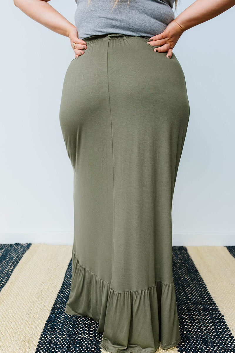 Falling For You Skirt In Olive-1XL, 2XL, 3XL, 8-6-2020, Bottoms, Group A, Group B, Group C, Large, Made in the USA, Medium, Plus, Small, XL, XS-Womens Artisan USA American Made Clothing Accessories