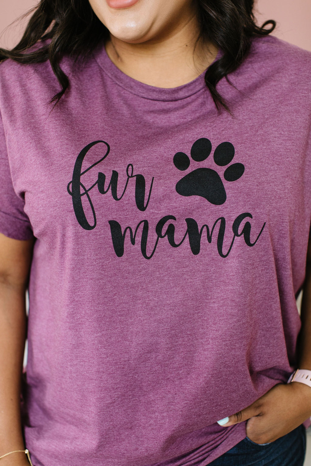 Fur Mama Graphic Tee-2XL, 3XL, 5-1-2020, Group A, Group B, Group C, Group D, Large, Medium, Plus, Small, Tops, XL, XS-Womens Artisan USA American Made Clothing Accessories