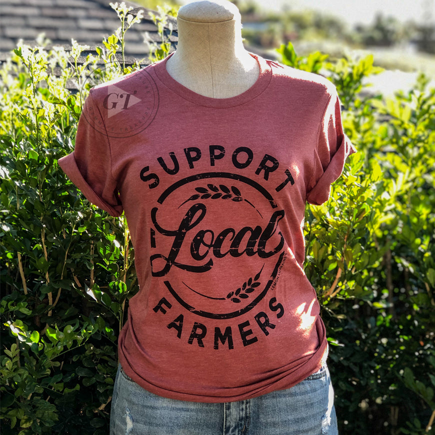 Support Local Farmers Crew Tee