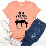 Best Friends Come in All sizes Crew Tee -Made in the USA, Sale-Womens Artisan USA American Made Clothing Accessories