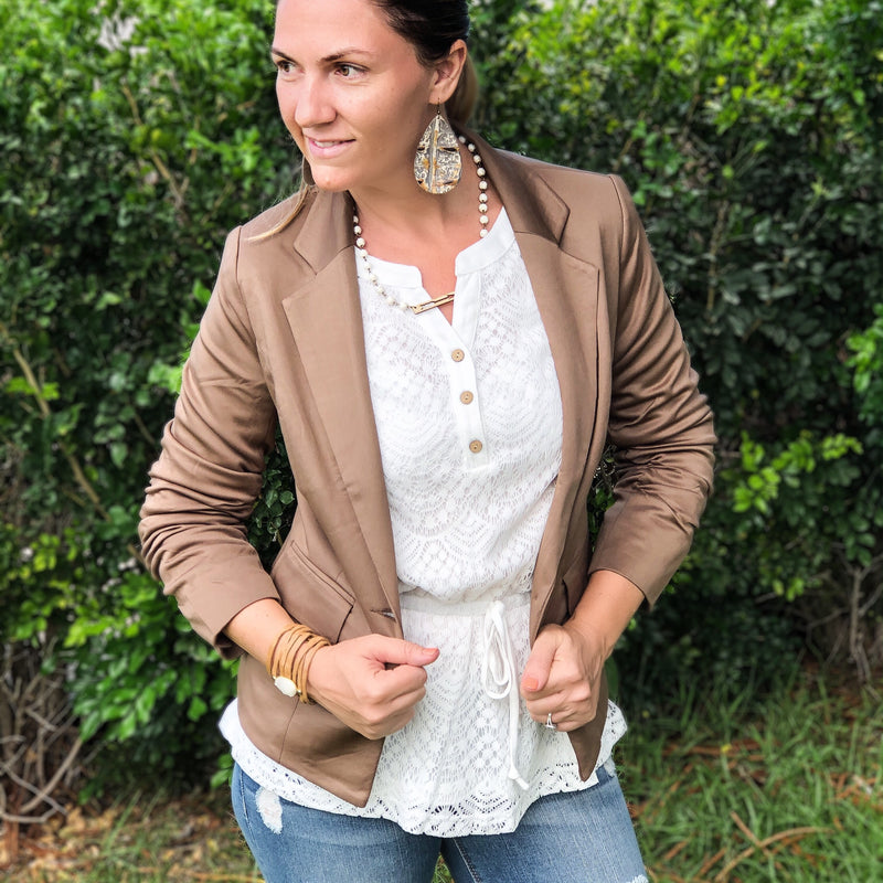 Fitted Blazer--Womens Artisan USA American Made Clothing Accessories