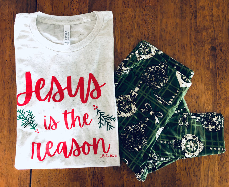 Jesus is the Reason Tee--Womens Artisan USA American Made Clothing Accessories