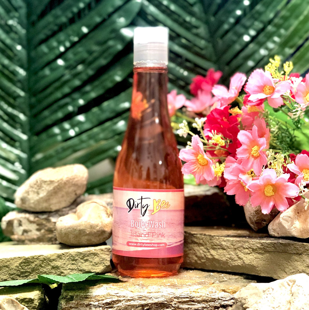 Island Pink Body Wash - On Hand-Bath & Body, body, Body Wash, Dirty Bee, Dropship, Island Pink, Soap-Womens Artisan USA American Made Clothing Accessories