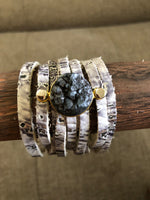 Leather and Druzy Bracelets-Jewelry, Made in the USA-Womens Artisan USA American Made Clothing Accessories