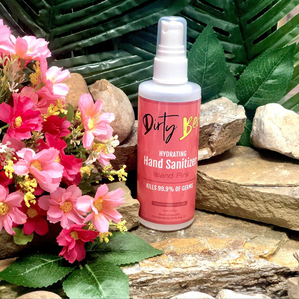 Island Pink Hand Sanitizer Spray | 4oz-Bath & Body, body, Dirty Bee, Dropship, Hand Sanitizer, Island Pink-Womens Artisan USA American Made Clothing Accessories