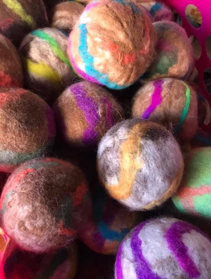Alpaca Dryer Balls {Pack of Three}-Gifts, Home, Laundry-Womens Artisan USA American Made Clothing Accessories