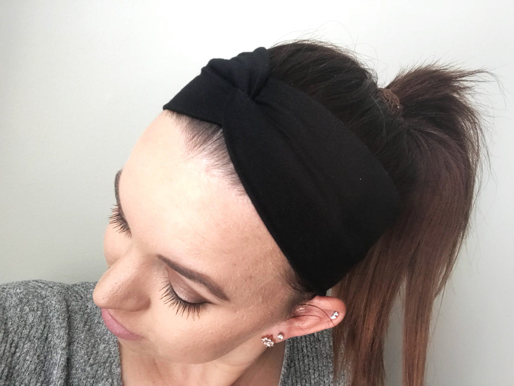 Solid Black Headband - wholesale--Womens Artisan USA American Made Clothing Accessories