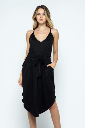 Ellis Tie Waist Strap Dress-Dresses-Womens Artisan USA American Made Clothing Accessories