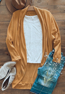 Fall's Favorite Cardigan with Thumbholes - OS