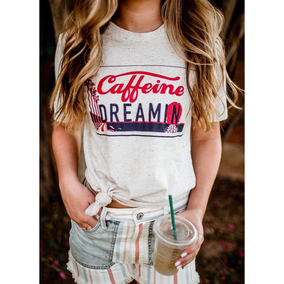 Caffeine Dreamin Tee--Womens Artisan USA American Made Clothing Accessories