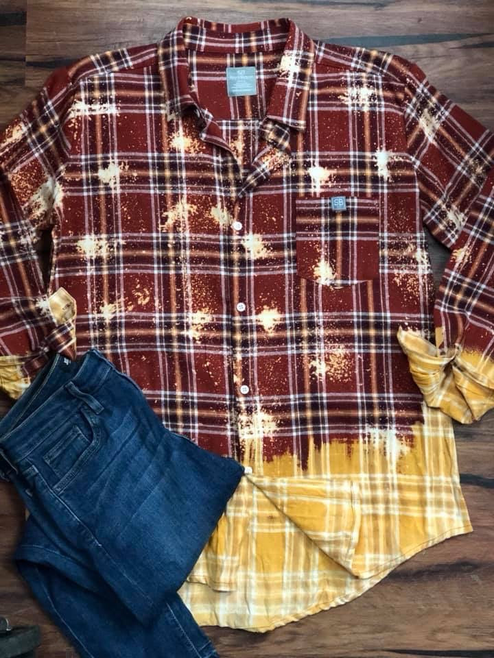 Bleached Flannel-Made in the USA, Sale-Womens Artisan USA American Made Clothing Accessories