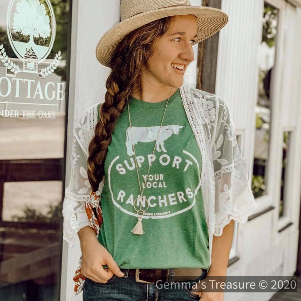 Support Your Local Ranchers--Womens Artisan USA American Made Clothing Accessories