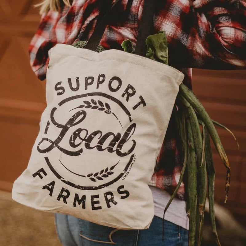 Support Local Farmers Tote Bag--Womens Artisan USA American Made Clothing Accessories