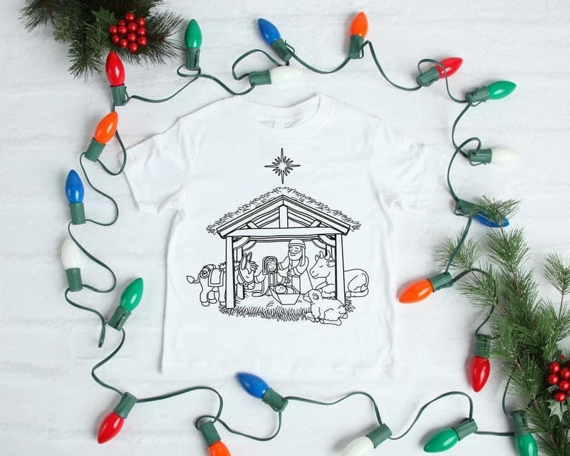 Children's Nativity Blank Slate Tee--Womens Artisan USA American Made Clothing Accessories